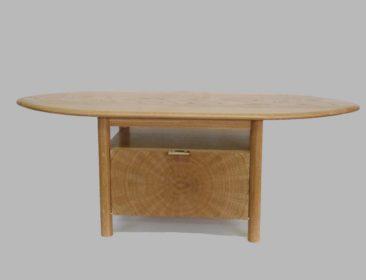 End Grain Oak Television Table