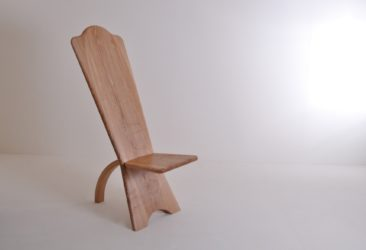 Olive Ash Chief's Chair - Angled Left