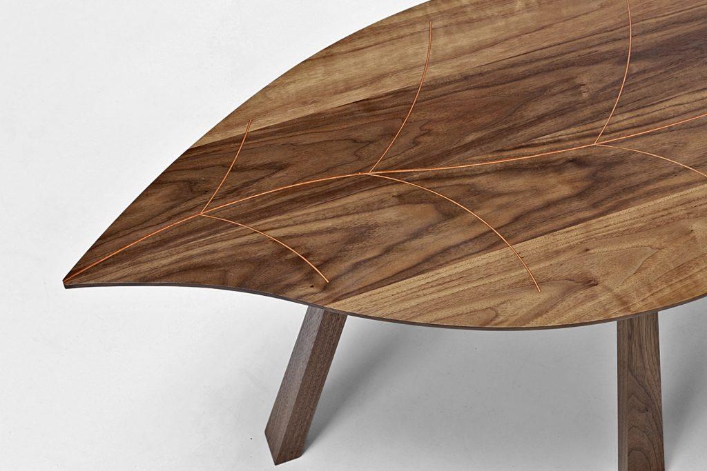 Autumn Leaf Walnut Coffee Table