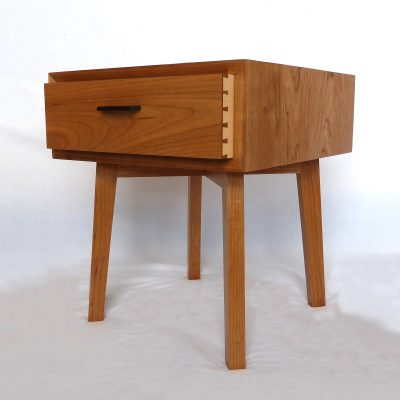 Cherry Bedside table with small drawer