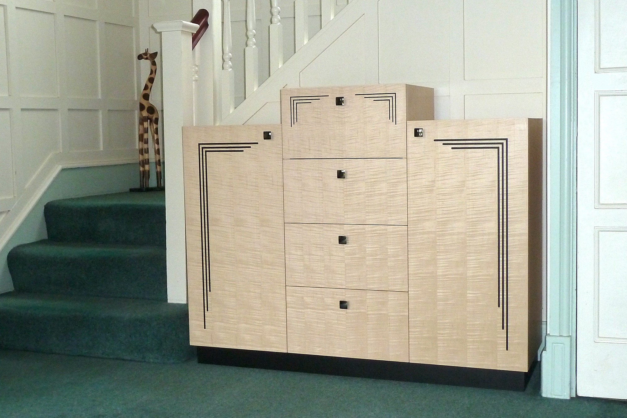 Art Deco Style Hall Cabinet front view