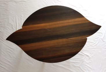 Bog Oak Double Leaf Coffee Table - overhead view of leaves together