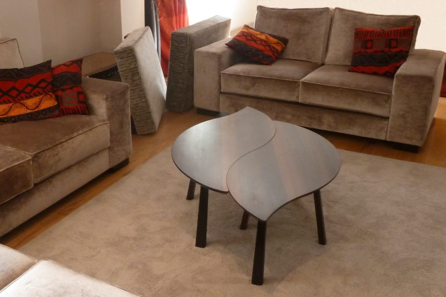 Bog Oak Double Leaf Coffee Table in Lounge