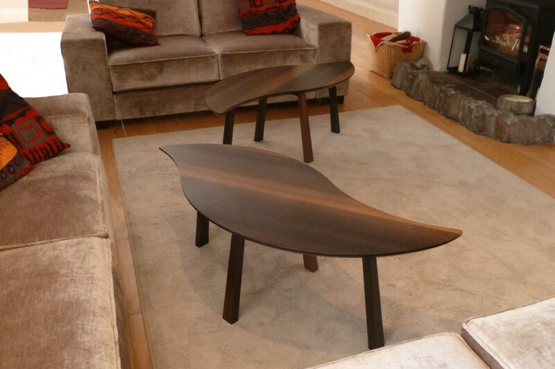 Bog Oak Double Leaf Coffee Table with leaves separated