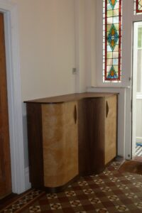 Hall after installation of bespoke cabinet