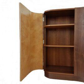 Bespoke Hall cabinet showing shelves inside left hand door