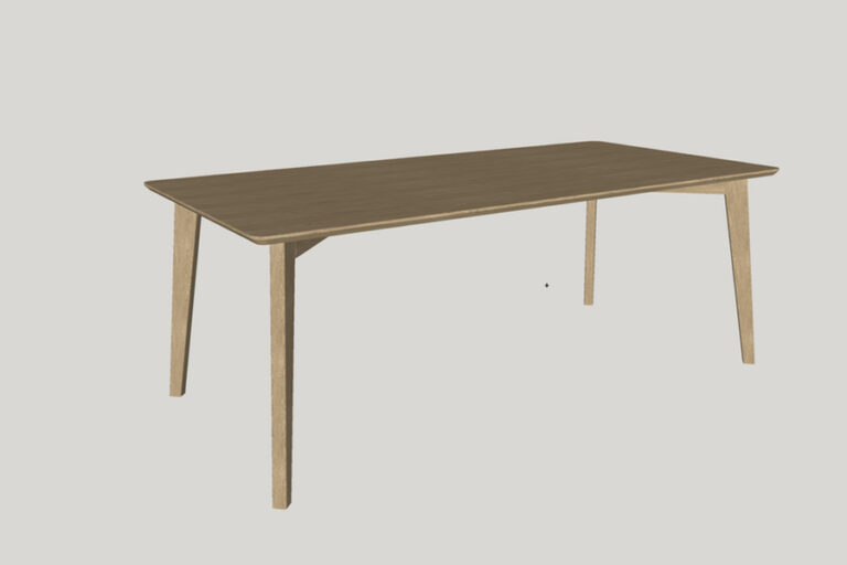 Picture of oak dining table model